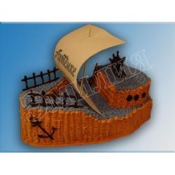 Торт корабль №10