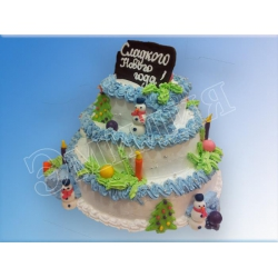 Торт новогодний №23