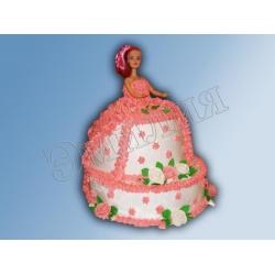 Торт кукла №4