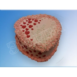 Торт сердечко №23