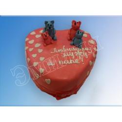 Торт сердечко №21