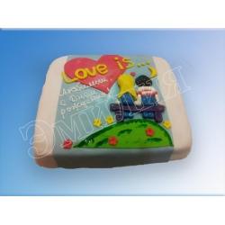 Торт сердечко №25