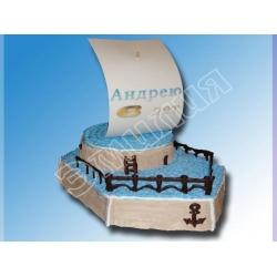 Торт корабль №2