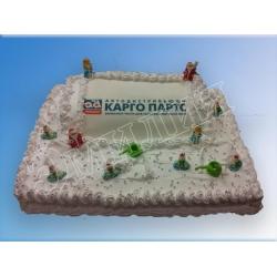 Торт новогодний №17