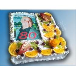 Торт с фото №2