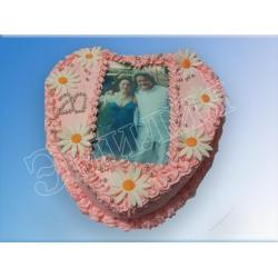 Торт сердечко №1