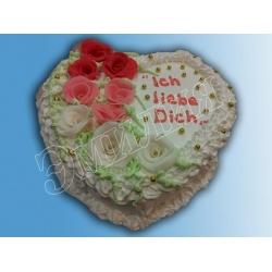 Торт сердечко №10