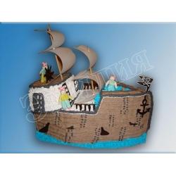Торт корабль №4