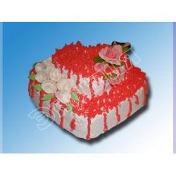 Торт сердечко №2