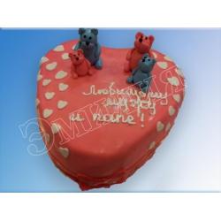 Торт сердечко №22