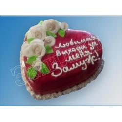 Торт сердечко №11