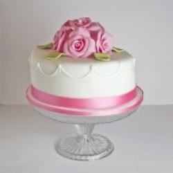 Торт праздничный Розовый шелк - 500 грн/кг