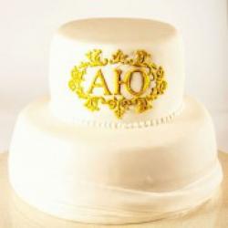 Свадебный торт Инициалы - 500 грн/кг: заказать, доставка