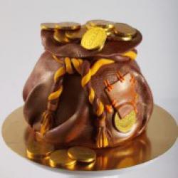 Торт праздничный Мешочек с золотом - 530 грн/кг