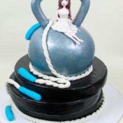 Торт праздничный Любимому атлету - 550 грн./кг.