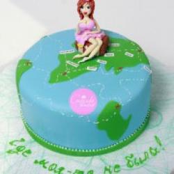 Торт праздничный Точка на карте - 550 грн/кг