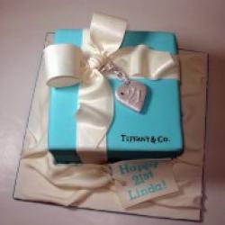 Торт праздничный Подарок от Тиффани - 500 грн/кг