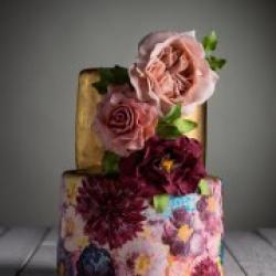 Свадебный торт Золотое сияние - 650 грн./кг. : заказать, доставка
