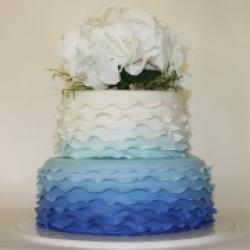 Торт свадебный Рюши - 550 грн/кг Без цветов : заказать, доставка