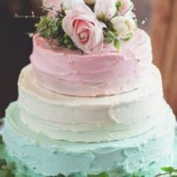 Торт свадебный открытый Омбре - 530 грн/кг: заказать, доставка