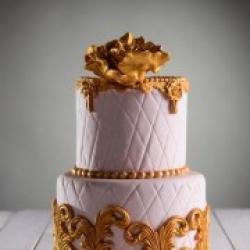 Свадебный торт Золотой цветок - 580 грн./кг. : заказать, доставка