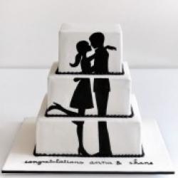 Торт свадебный Силает любви - 500 грн/кг: заказать, доставка
