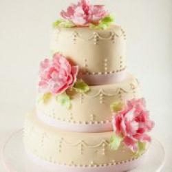 Торт свадебный Пионы - 550грн/кг