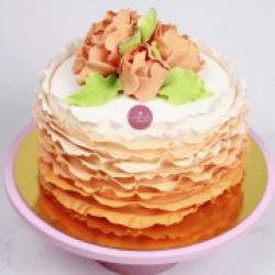 Торт праздничный Персиковые кружева - 550 грн/кг