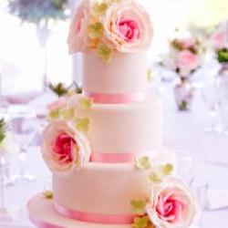 Торт свадебный Розовое сияние  - 550 грн/кг: заказать, доставка