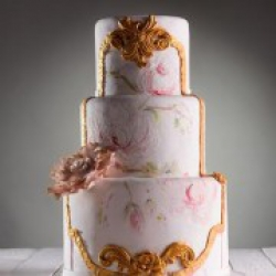 Расписной свадебный торт Нежность - 600 грн./кг. : заказать, доставка