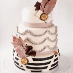 Торт свадебный Стиль Гетсби - 550 грн/кг: заказать, доставка