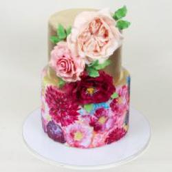 Торт праздничный Золотая роспись - 600 грн./кг.