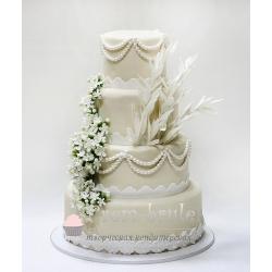 Торт свадебный №26