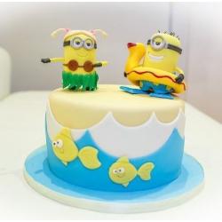 Детский торт Миньоны-5