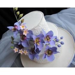 Свадебный торт Лиловая орхидея: заказать, доставка