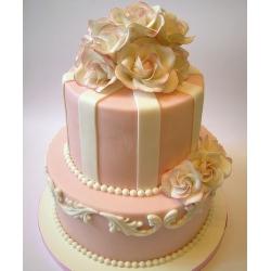 Свадебный торт Сад с розами: заказать, доставка
