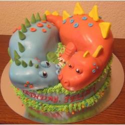 Торт на заказ Два дракона
