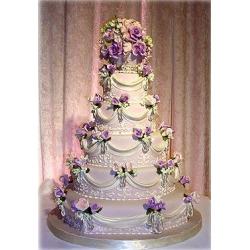 Свадебный торт Фиалковый поцелуй: заказать, доставка