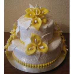 Свадебный торт Желтые каллы: заказать, доставка