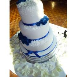 Свадебный торт Синие цветы: заказать, доставка