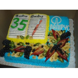 Корпоративный торт Папирус