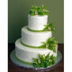 Свадебный торт Зелёная Орхидея: заказать, доставка