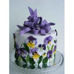 Свадебный торт Анютины глазки: заказать, доставка