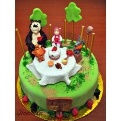 Детский торт Маша и компания