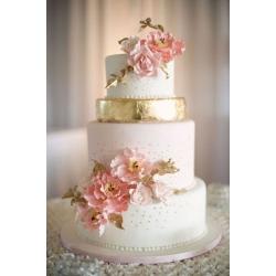 Свадебный торт Золотая любовь: заказать, доставка