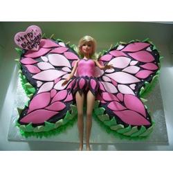 Торт для девочки - Барби-бабочка