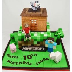 Детский торт Майнкрафт-2