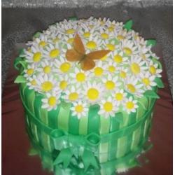 Торт Лукошко ромашек