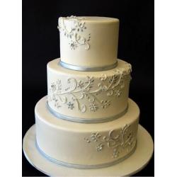 Свадебный торт Серебро: заказать, доставка