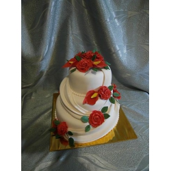 Свадебный торт Красное и белое: заказать, доставка